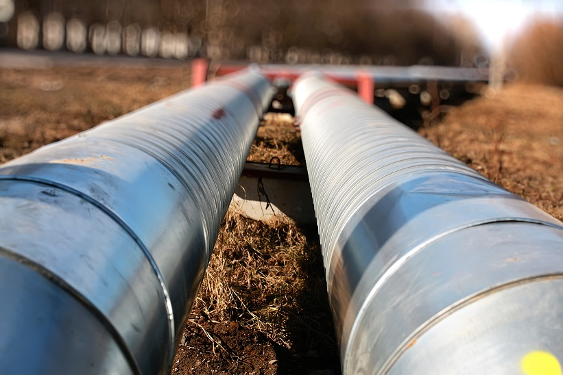 Commercial gas lines above ground.