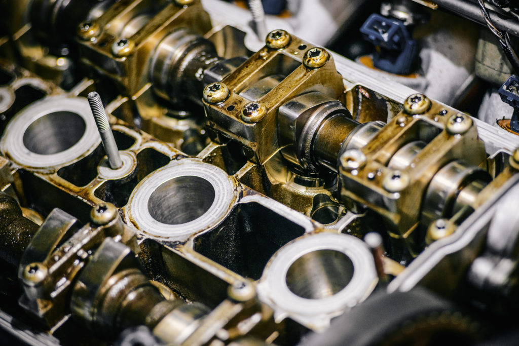 a close-up shot of an internal combustion engine